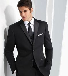 groomsmen in black and white with pocket square accent - Google Search