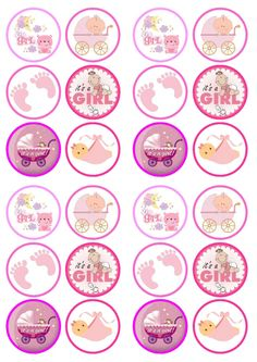 new Ideas for cupcakes decoration paper baby shower Dibujos Baby Shower, Imprimibles Baby Shower, Baby Shower Mixto, Moldes Para Baby Shower, Baby Girl Clipart, Baby Shower Cupcake Toppers, Cupcake Toppers Free, Baby Shawer, Baby Scrapbook