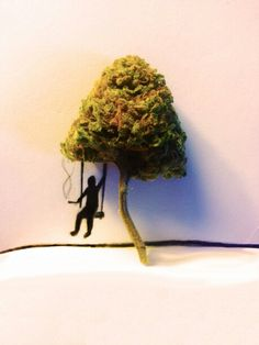The Tree Swing 420-art & weed-together forever #Marijuana