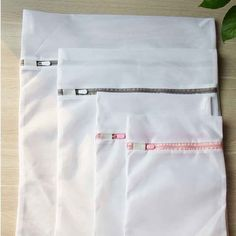 Fine Mesh Laundry Bag The fine mesh laundry bags are made out of polyester fiber with two layers of mesh. The premium zipper can be secured under the elastic little tab prevent the bag from opening. Mesh Laundry Bags, Wash Bags, Fiber, Underwear, Layers, Lingerie, Fabric, Layering, Tejido