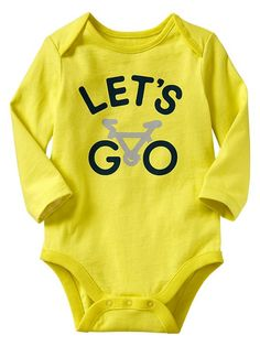 545f80b7d Adorable Yellow Bicycle Onesie For Young Boys - Sweet Onesies Boy Onesie