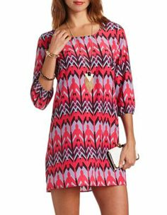 aztec print shift dress // cute dress at an affordable price :)