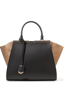 Fendi | 3Jours suede-paneled leather tote | NET-A-PORTER.COM