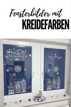 Christmas window decoration with chalk markers - DIY: Window pictures with chalk colors – great fun for the whole family # chalk marker im - Christmas Crafts For Kids To Make, Diy Gifts For Kids, Gifts For Family, Window Markers, Christmas Window Decorations, Chalk Lettering, Christmas Chalkboard, Chalk Markers, Window Art