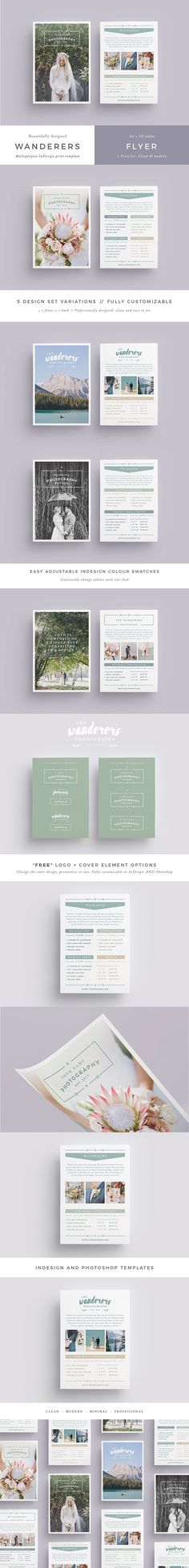 WANDERERS Wedding Flyer Price List by 46&2 Collective on @creativemarket