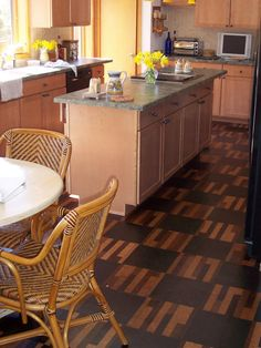 Vinyl Flooring in the Kitchen | Kitchen Designs - Choose Kitchen Layouts & Remodeling Materials | HGTV