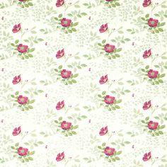 Laura Ashley Ella Berry Floral Wallpaper
