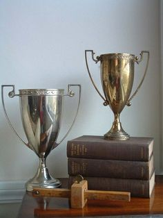 A vintage trophy would be good, too. Preferably from yachting, sailing, crewing, tennis, or golf.