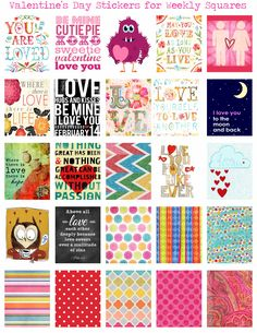FREE Valentine printables to fit the weekly square on the Erin Condren Life Planner.  Can be found at  https://www.facebook.com/groups/chickadee.handmade/  #erincondren #lifeplanner #eclp