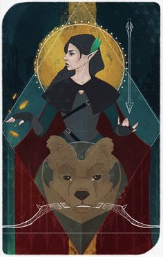 """""""So... Third of #CriticalRole cards. Vex'ahlia — Empress. (and Trinket). Hope you'll like it :) @LauraBaileyVO"""""""