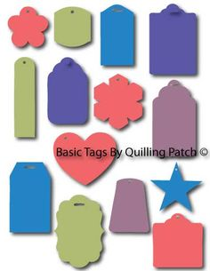 Free Basic Tags Set for Craft Cutting Machines in SVG GSD KNK AND MTC formats