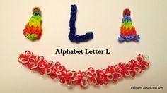 How to make alphabet letter L charm on rainbow loom