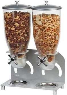 Double Canister Cylinder Cereal Dispenser click store link for more information or to purchase Kinds Of Cereal, Cereal Containers, Gadgets And Gizmos, Technology Gadgets, Cereal Dispenser, Granola Cereal, Art Studio At Home, Morning Breakfast, Portion Control