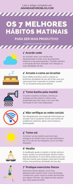 The 7 best morning habits to be more productive! Ser Fitness, 5am Club, Miracle Morning, Habits Of Successful People, Morning Habits, Life Care, Motivational Phrases, Meaningful Life, Good Habits