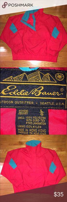 Eddie Bauer Wind Breaker! Vintage Eddie Bauer wind Breaker. Like new condition, pocket in front! Eddie Bauer Jackets & Coats