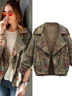Shop Plus Size Print Casual Coat For Women online at Jollychic,FREE SHIPPING!