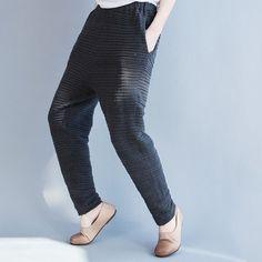 women cotton knitted elastic waist all-match casual pants feet stretch pants Leggings