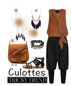 """""""Tricky Trend: Chic Culottes"""" by labond ❤ liked on Polyvore featuring Chloé, Charlotte Russe, Kenneth Cole, TrickyTrend and culottes"""