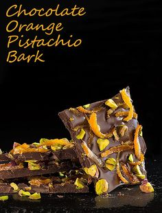 Chocolate Orange Pistachio Bark. Get the recipe for this edible, homemade gift at This Mama Cooks! On a Diet