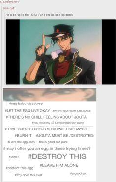 LET THE EGG D I E   - jouta Kujo - JJBA - SDC (?) - funny
