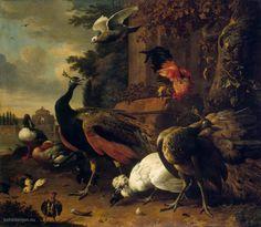 Vogels+in+een+Park, Melchior+d'+Hondecoeter