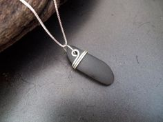 Sea glass jewelry Beach stone necklace #seaglassbracelet