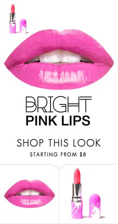 """pink lips"" by imyourqueen14 ❤ liked on Polyvore featuring beauty and Lime Crime"