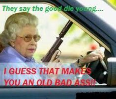 Enjoy a collection of old lady memes! This collection of funny old lady pics and memes you can make everyone laugh! The Trooper, Are You Scared, Thing 1, Road Rage, I Smile, Just For Laughs, Old Women, Laugh Out Loud, The Funny
