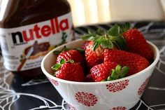 Nutella and strawberries! Perfection