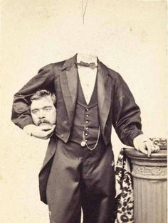 People In The 1800s Loved Decapitating Themselves In Photos - All Day