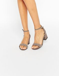 Image 1 of New Look Suede Barely There Heeled Sandals