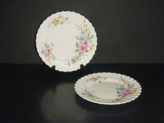 Royal Doulton Arcadia Salad Plate Bone China England Set 2