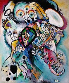 Vassily Kandinsky - Two Ovals (Composition 21)