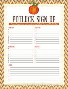 Alfa img - Showing > Spring Office Potluck Sign Up Sheet