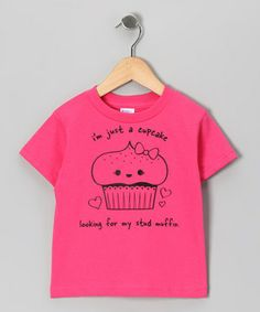 This Hot Pink 'I'm Just a Cupcake' Tee - Toddler & Girls by RaR Boys is perfect! #zulilyfinds