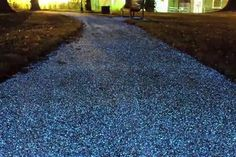 Glow in the dark pavement. Reducing the future costs for public lighting, UK-based company ProTeq Lighting introduced new technology Starpath that absorbs light during the day and emits an artificial glow in the evening. Environmental impact unknown.