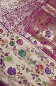 Purple Handloom Banarasi Katan Silk Saree