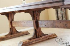 Triple Pedestal Farmhouse Table Anna white plans