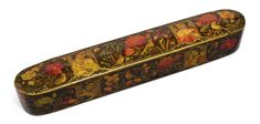 Islamic World, Antique Paint, Painted Boxes, Pen Case, Indian Art, 19th Century, Modern Art, Auction, Antiques