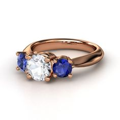 Sapphire ring in Rose Gold kind of has a richness to it