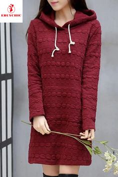 Shift Dresses - Hooded Loose Casual Shift Dress Source by - Shift Dress Outfit, Casual Dress Outfits, Summer Dress Outfits, Belted Shirt Dress, Tee Dress, Shift Dresses, Outfit Work, Shift Dress Pattern, Types Of Sleeves