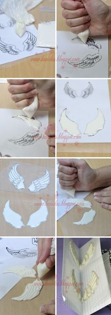Angel Wings step by step... Alapanyagokat sé ételfestéket vásárolj a GlazurShopból! http://shop.glazur.hu