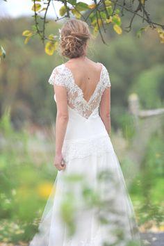 Robe de mariée réalisée par Marie-Catherine le Hodey - Styliste belge www.mariecatherinelehodey.be
