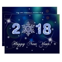 2018 new years eve party custom invitations happy new year design happy new year 2018