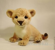 Купить Львенок Самсон - львенок, лев, кошка, Валяние, фильцевание, эксклюзивный подарок, игрушка из шерсти