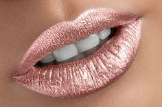 Makeup Ideas: Golden glow metallic matte liquid lipstick  Water proof Smudge proof transfer