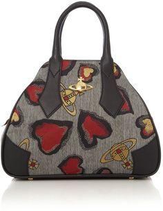 afb6bab6e0 VIVIENNE WESTWOOD Secret Heart Dome Bag Satchel Backpack, Shopper Bag, Vivienne  Westwood, Silk
