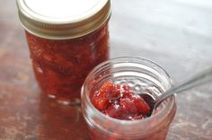 Cranberry Orange Apricot Chutney perfect on top of White Chocolate Chip pancakes