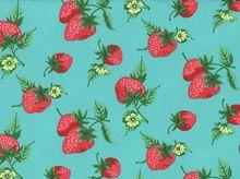 Fruta y Flor Strawberry Fields Cotton Aqua