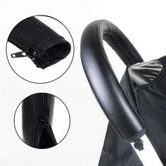유모차 유모차 액세서리 아기 유모차 팔걸이 PU 보호 케이스 커버 팔걸이 커버 핸들 휠체어
